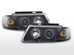 Angel eye headlight VW Passat type 3B 97-00 black