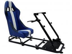Game Seat for PC and game consoles imitation leather blue/white
