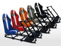 FK Gamesitz Spielsitz Rennsimulator eGaming Seats Interlagos Textilgewebe/Stoff [verschiedene Farben]