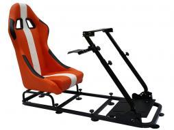 Game Seat for PC and game consoles material orange/white