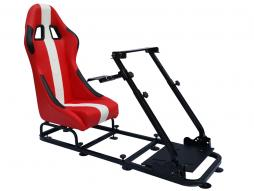 Game Seat for PC and game consoles imitation leather red/white