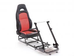 FK Gamesitz Silverstone Rennsimulator für Rennspiele schwarz/rot