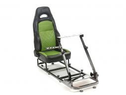 FK Gamesitz Silverstone Rennsimulator für Rennspiele schwarz/grün