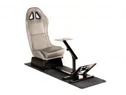 FK Gamesitz Spielsitz Rennsimulator eGaming Seats Suzuka Carbonlook silber mit Teppich