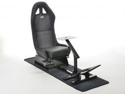 FK sedile di giocho Suzuka simulatore corsa per giochi di corsa nero con tappetto
