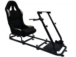 sedile simulazione di corsa per giochi elettronici (computer o console di gioco) nero/griggio