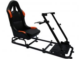 Game Seat for PC and game consoles imitation leather black/orange