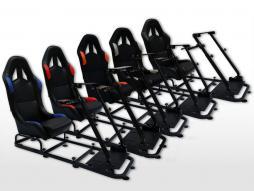 Siège de jeu FK Simulateur de course de siège de jeu eGaming Seats Tissu textile Monaco / tissu [différentes couleurs]