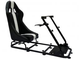 Game Seat for PC and game consoles imitation leather black/white