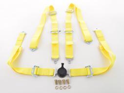 Hosenträgergurt 4-Punkt Gurt Renngurt universal gelb