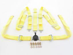 Hosenträgergurt 5-Punkt Gurt Renngurt universal gelb