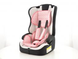 Kinderautositz Kindersitz Autositz schwarz/weiß/pink Gruppe I-III, 9-36 kg