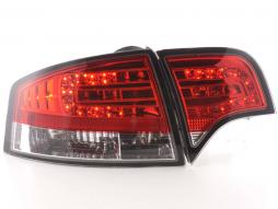 Led Taillights Audi A4 saloon type 8E Yr. 04-07 red/clear