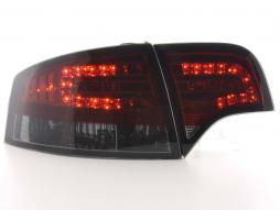 Led Taillights Audi A4 saloon type 8E Yr. 04-07 red/black