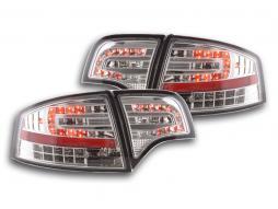 Led Taillights Audi A4 Limo Typ 8E Yr. 04-07 chrome