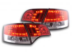 Led Taillights Audi A4 Avant type 8E Yr. 04-08 red/clear