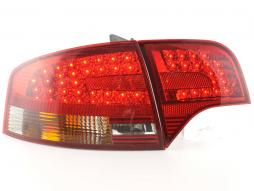 Led Taillights Audi A4 B7 8E saloon Yr. 04-07 red/black