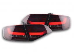 Feux arriere LED Audi A4 B8 8K Limo An. 07-11 rouge/noir