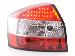 Led Taillights Audi A4 saloon type 8E Yr. 01-04 clear/red