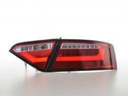 LED Rückleuchten Set Lightbar Audi A5 8T Coupe/Sportback Bj. 07-11 rot/klar