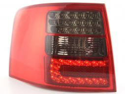 Led Taillights Audi A6 Avant type 4B Yr. 97-03 black/red