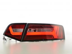LED Rückleuchten Set Lightbar Audi A6 4F Limo Bj. 08-11 rot/klar
