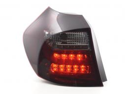 Led Taillights BMW serie 1 E87/E81 3/5-Dr. Yr. 04-07 red/black