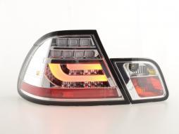 LED Rückleuchten Set BMW 3er E46 Coupe Bj. 03-07 chrom