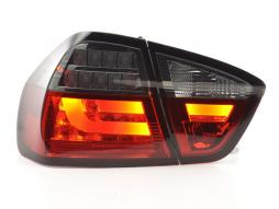 Led Taillights BMW serie 3 E90 saloon Yr. 05-08 red/black