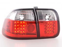 Led Taillights Honda Civic 3-dr Typ EJ9/EK1/2/3 Yr. 96-01 black