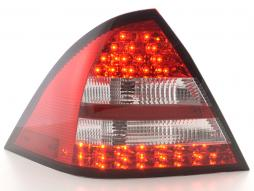 Led Taillights Mercedes C-Class W203 saloon Yr. 05-07 red/clear
