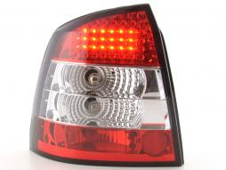 Led Taillights Opel Astra G 3/5-dr Yr. 98-03 clear/red