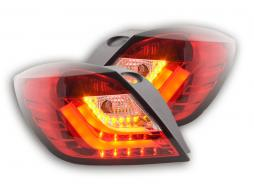Led Rear lights Opel Astra H GTC Yr. 04-08 red/clear