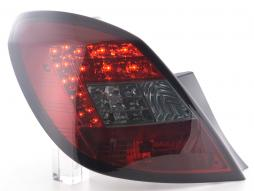 Led Taillights Opel Corsa D 5-dr Yr. 06-10 red/black