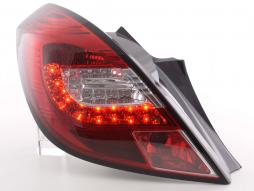 Led Taillights Opel Corsa D 3-dr Yr. 06-10 red/clear