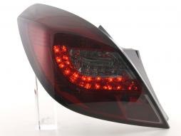 Led Taillights Opel Corsa D 3-dr Yr. 06-10 red/black