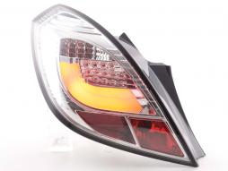 Rear lights Set LED Opel Corsa D 3-door Yr. 06-10 chrome