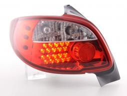 Led Taillights Peugeot 206 3/5 dr. not Cabrio Yr. 98-05 red