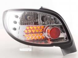 Led Taillights Peugeot 206 CC Cabrio Yr. 98-05 chrome