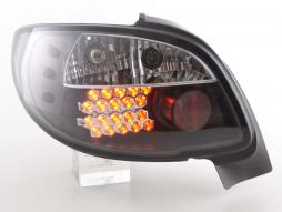 Led Taillights Peugeot 206 CC Cabrio Yr. 98-05 black