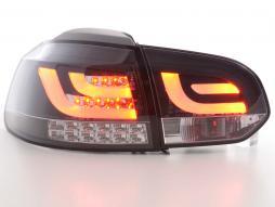 Led Taillights VW Golf 6 type 1K black with Led indicator