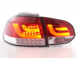 Led Taillights VW Golf 6 type 1K red/clear with Led indicator