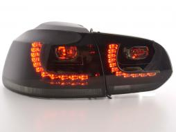 Led Taillights VW Golf 6 type 1K Yr. 2008-2012 black GTI-Look