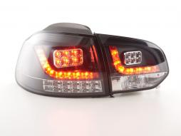 Led Taillights VW Golf 6 type 1K Yr. 2008-2012 black with Led indicator