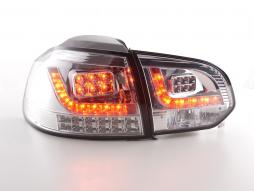 Led Taillights VW Golf 6 type 1K Yr. 2008-2012 chrome with Led indicator
