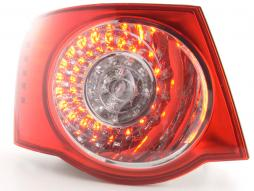 Spare parts Taillights left VW Jetta 5 type 1KM Yr. 05- clear/red