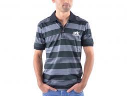 Poloshirt, Polo, Shirt, Top Modern, Klasse Design, grau gestreift Größe S