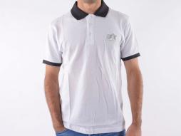 Poloshirt, Polo, Shirt, Top Modern, Klasse Design, weiß Größe M