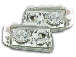 FK Scheinwerfer Beleuchtung Auto Licht Powerlook für VW Polo Typ 6N Bj. 94-99 chrom