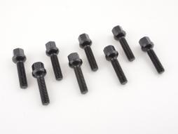 Radschraube einzeln Schaftlänge 45mm Kugelbund schwarz M12x1,5